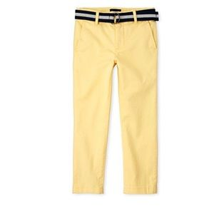 Boys Belted Stretch Chino Pants -Butter-Regular